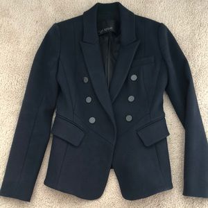 Yigal Azrouel navy wool blend blazer (never worn)